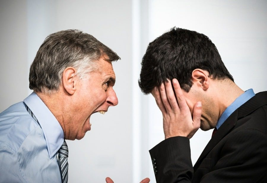 anger management counselling wolverhampton - boss screaming at employee