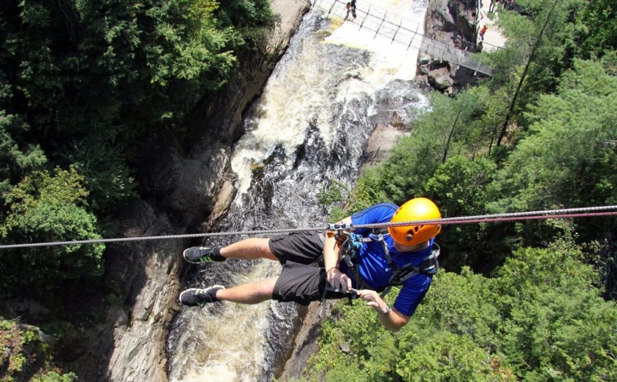 Acrophobia is the Fear of Heights - Man Hanging Over Ravine