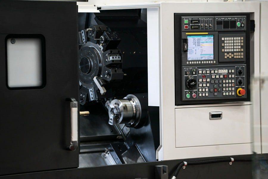 mechanophobia fear of machines - close up of CNC lathe
