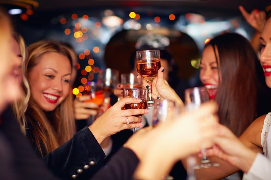Methyphobia Fear of Alcohol - Group of Young Women Drinking