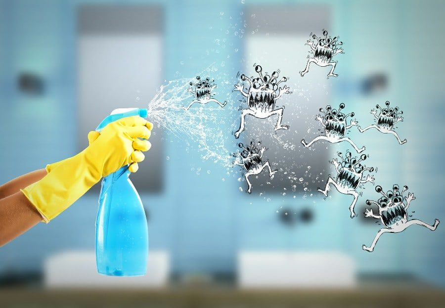 Osmophobia Fear of Smells - spraying smell germs with air freshner