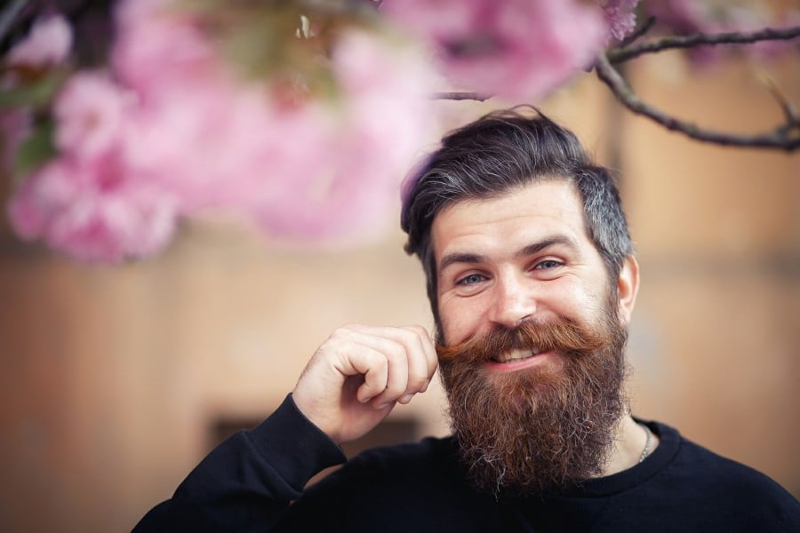 fear of beards pogonophobia - man with bushy beard