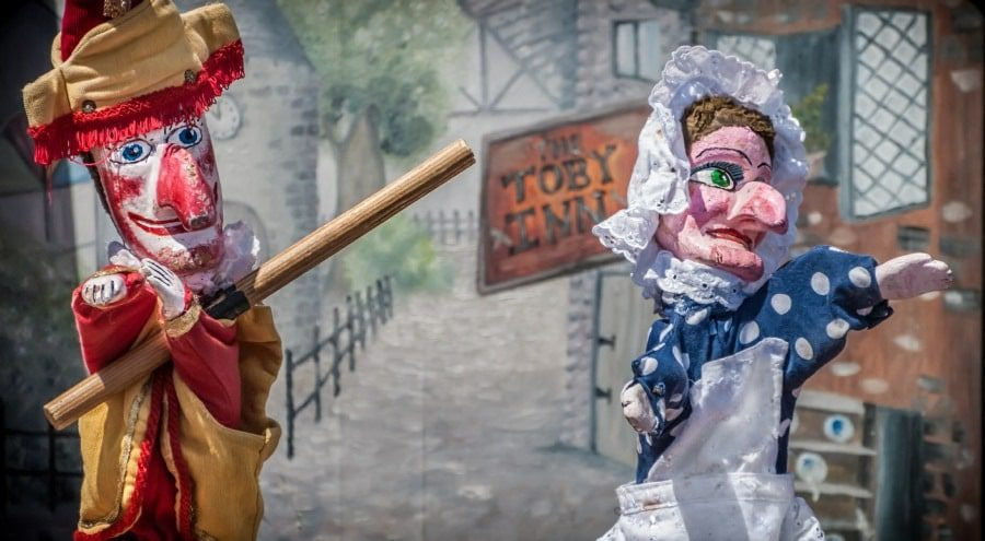 pupaphobia fear of puppets - classic punch and judy puppets