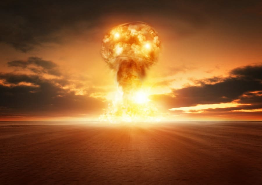fear of radioactivity radiophobia - nuclear mushroom cloud