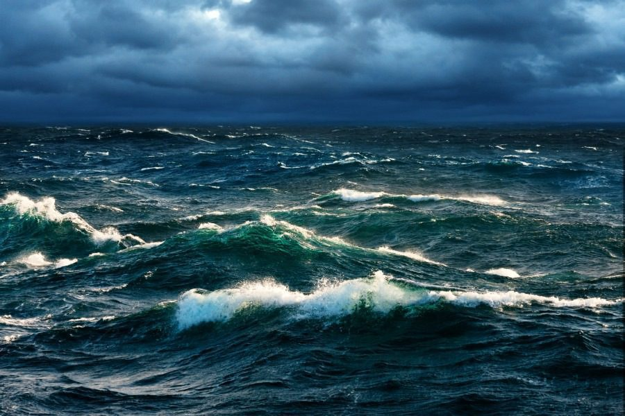 Thalassophobia Fear of the Sea - Image of Storm at Sea