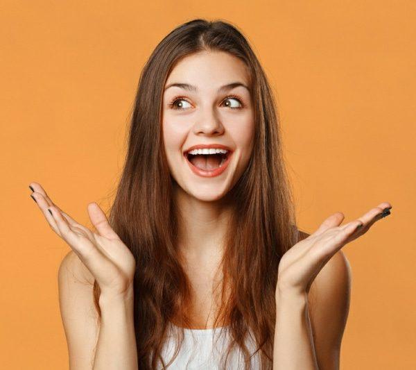 self-esteem happy young woman