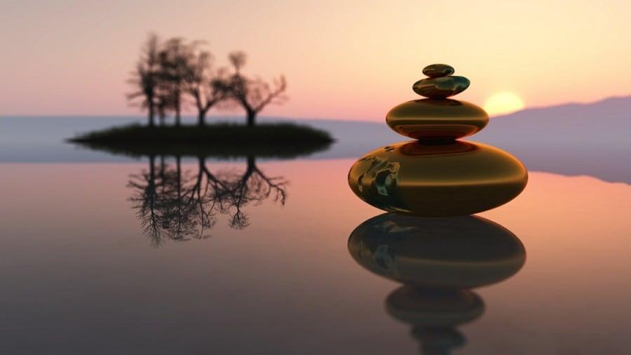 mindfulness therapy wolverhampton - zen stones image