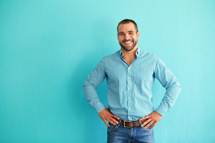 hypnotherapy for assertiveness wolverhampton - man standing in confident pose