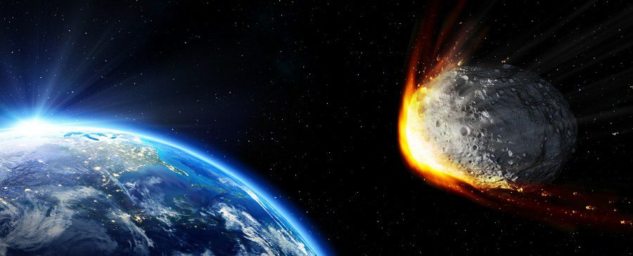 causes of emetophobia banner - meteorite heading for earth