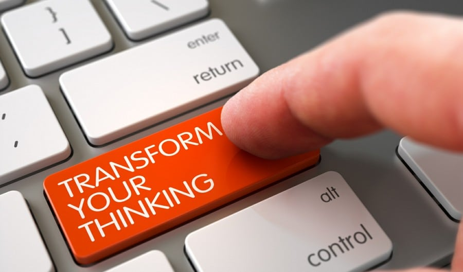 coping with stress by transforming your thinking - transform thinking key on computer keyboard
