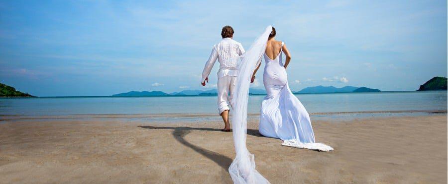 coping with divorce in wolverhampton- island wedding scene