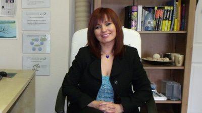 Hypnotherapist Joan Lee in her clinic