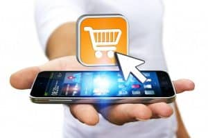 e commerce smart phone and cart image